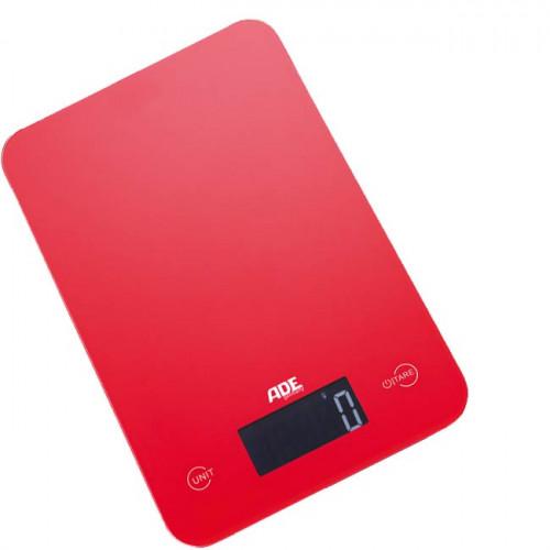 ADE Slim Red Bilancia Digitale Pesa Alimenti