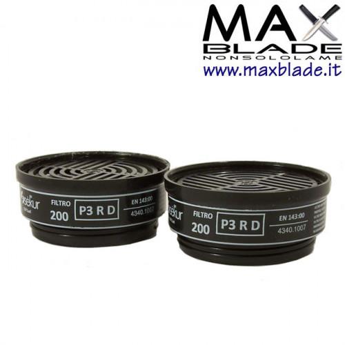 DPISEKUR Coppia di Filtri Antipolvere P3 Riutilizzabili Maschera Twin e Polimask Beta