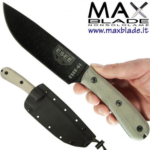 ESEE Knives Model 6 Impugnatura tradizionale fodero Kydex