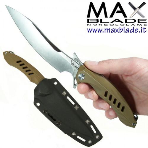 RIKE KNIFE F1 lama fissa Tan coltello combattimento