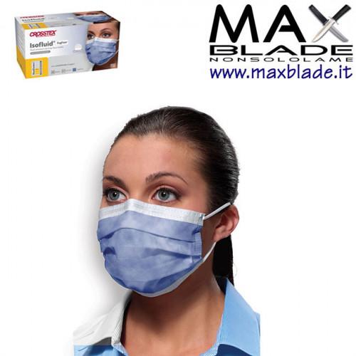 CROSSTEX Isofluid Mascherina Igienica Monouso Dispositivo Medicale 50 Pezzi