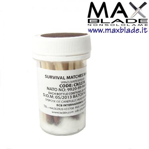 BCB Fiammiferi Antivento e Antiacqua Survival MK3
