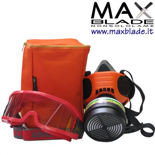 DPISEKUR Kit Antincendio Maschera Antigas
