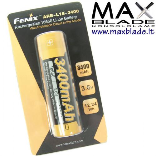 FENIX Batteria Ricaricabile 18650 3400 mAh Protetta