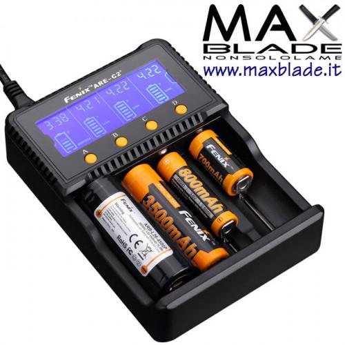 FENIX Carica Batterie universale digitale 4 posti ARE C2 Plus