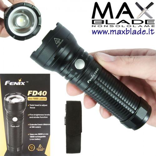 FENIX FD40 torcia LED focus variabile 1000 lumens