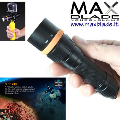 FENIX SD11 torcia LED per immersioni SUB 1000 lumens Diving Photo Torch
