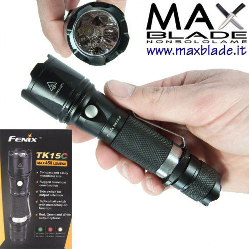 FENIX TK15C Multicolore Torcia LED 450 lumens