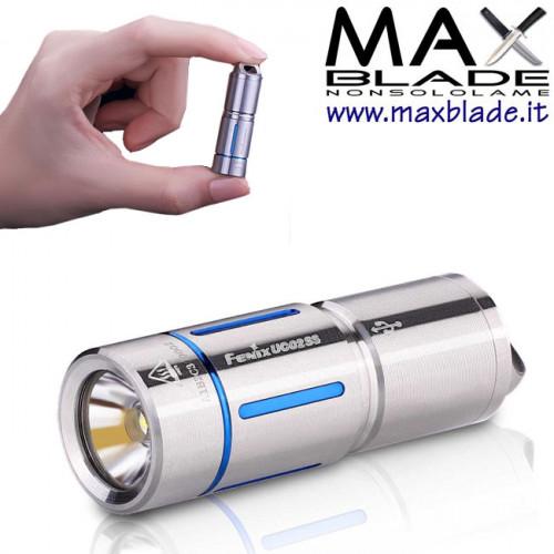 FENIX UC 02SS Blu Torcia LED Ricaricabile Acciaio 130 lumens PORTACHIAVI