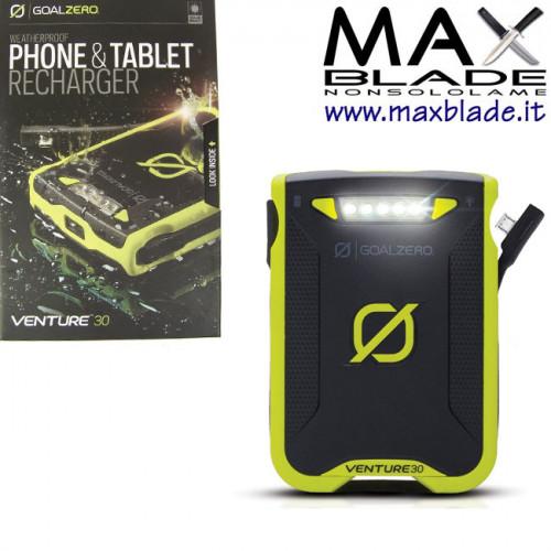 GOAL ZERO Batteria ricaricabile Venture 30 impermeabile Phone e Tablet