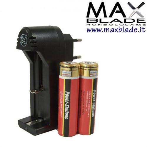 KEEN RAY Carica Batterie al litio 18650 KIT