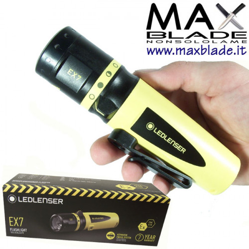 LED LENSER EX7 Torcia Led batterie ATEX torce anti deflagrazione
