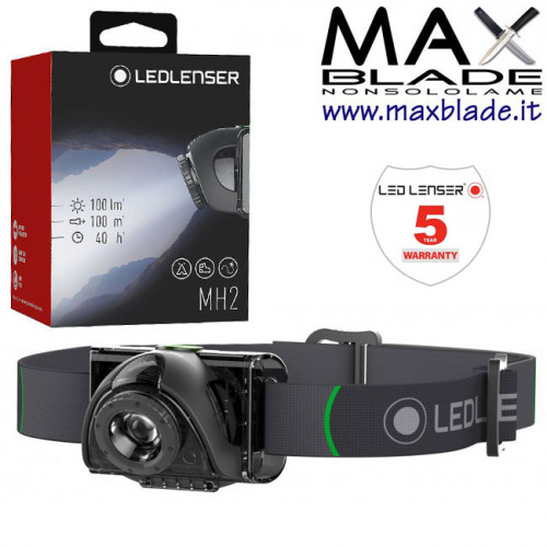 LED LENSER MH2 Torcia Led Frontale batterie AAA 100 lumens