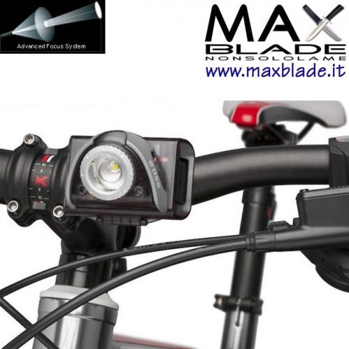 LED LENSER SEO B5R Grigia Torcia Bike Led Ricaricabile 180 lumens