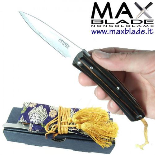MCUSTA Slip Joint giallo nero coltello chiudibile