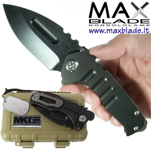 MEDFORD Praetorian Drop PVD Black in acciaio D2 coltello