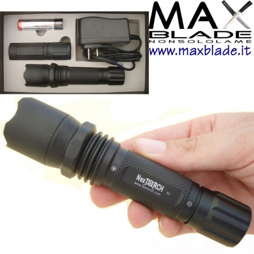 NexTORCH torcia tattica P1 LED ricaricabile