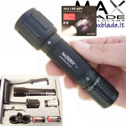 NexTORCH T6A LED Tactical Set Torcia Tattica