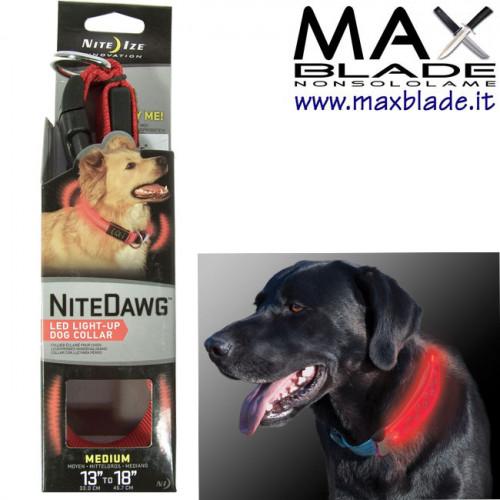 NITE IZE NiteDawg Collare luminoso a LED per cani taglia media