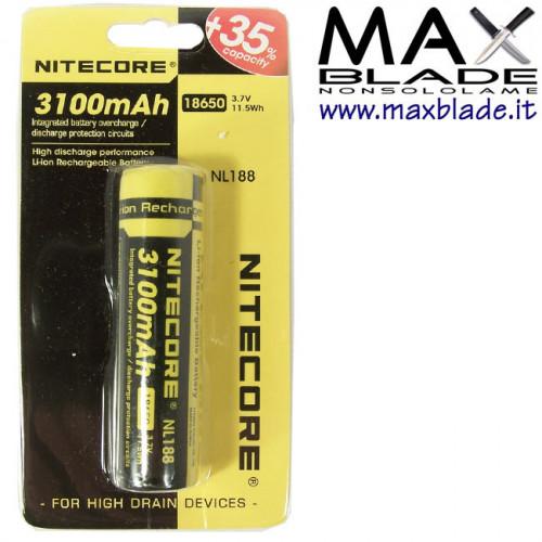 NITECORE Batteria Ricaricabile 18650 3100 mAh