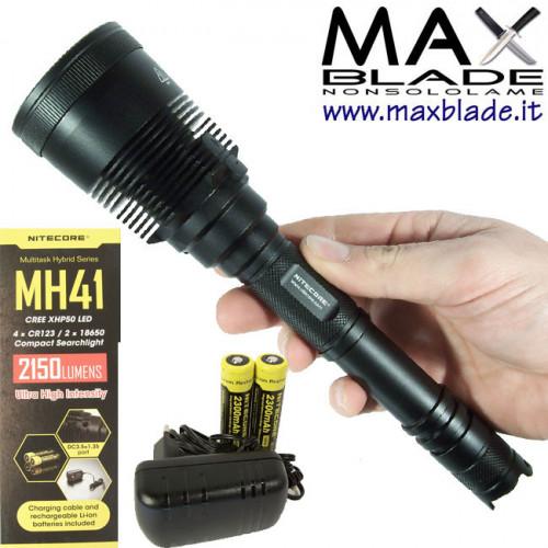 NITECORE Torcia LED Multi Task Hybrid ricaricabile MH41 2150 lumens