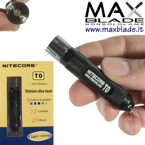 NITECORE Titanium Black Portachiavi 12 Lumens