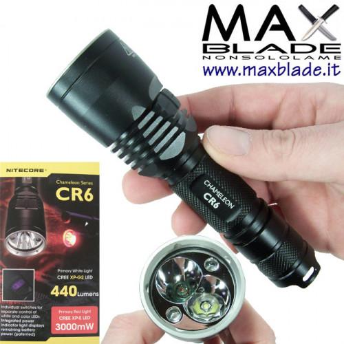 NITECORE Torcia LED Chamaleon CR6 Luce Rossa 440 lumens