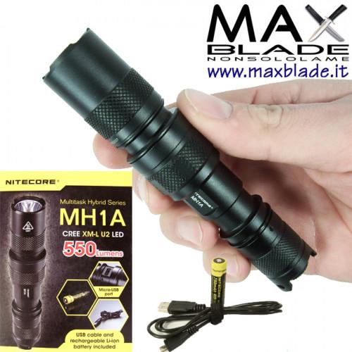 NITECORE Torcia LED Multi Task Hybrid ricaricabile MH1A 550 lumens
