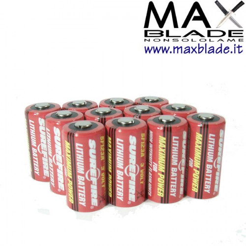 SUREFIRE Batterie CR123A 12 pz ricambi