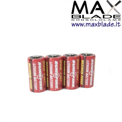 SUREFIRE Batterie CR123A 4 pz ricambi