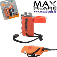ULTIMATE SURVIVAL TekFire Ligther Arancio Accendino survival