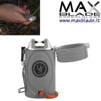 ULTIMATE SURVIVAL TekFire Ligther Arancio Accendino survival con torcia Led