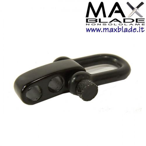 FIBBIA Metallo tipo U Black regolabile Braccialetti Paracord 3 fori