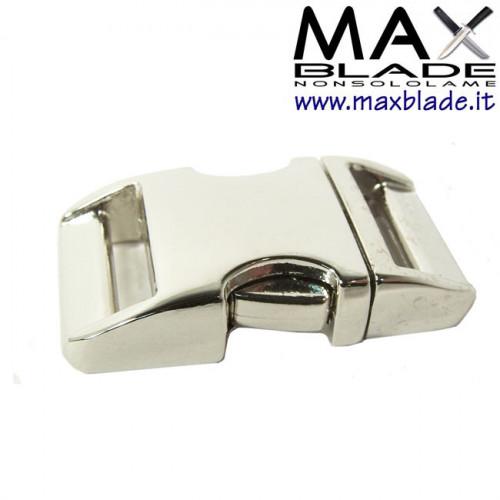 FIBBIA Alluminio nichelata Braccialetti Paracord lunghezza 5 cm