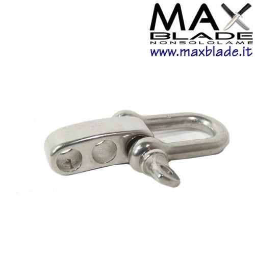 FIBBIA Metallo tipo U regolabile Braccialetti Paracord 3 fori