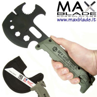 OFF GRID TOOLS Survival Axe Elite Green ascia survival