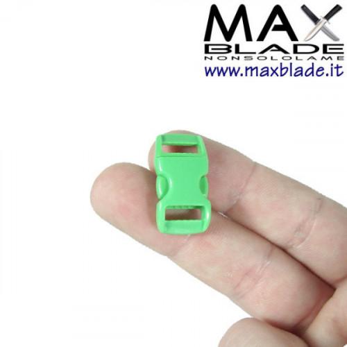 FIBBIA Verde Neon Piccola per Braccialetti Paracord