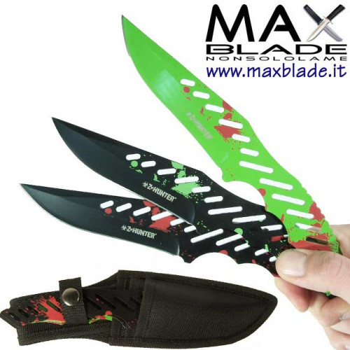 Z HUNTER Set lancio Zombie Knives 3 pezzi