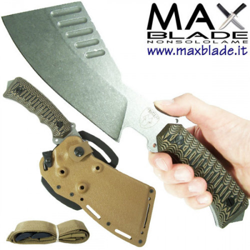 WOLFPACK Survival Rough Wolf Knife WP4 Desert TAN